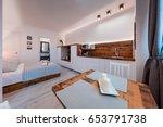 komiza  vis   croatia   may 15  ... | Shutterstock . vector #653791738