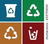 reuse icons set. set of 4 reuse ... | Shutterstock .eps vector #653793034