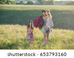 family portrait of mother with... | Shutterstock . vector #653793160