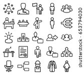 manager icons set. set of 25... | Shutterstock .eps vector #653794030