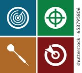 dart icons set. set of 4 dart... | Shutterstock .eps vector #653795806