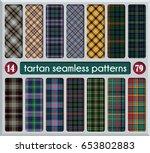 set tartan seamless pattern... | Shutterstock .eps vector #653802883