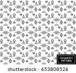 aztec tribal vector seamless... | Shutterstock .eps vector #653808526