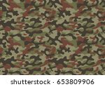 texture military camouflage... | Shutterstock .eps vector #653809906