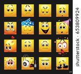 Vector Set Of Face Icons....