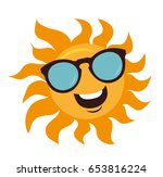 character sun in sunglasses and ... | Shutterstock .eps vector #653816224