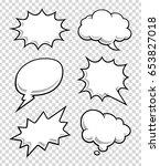 comic speech bubbles on... | Shutterstock .eps vector #653827018