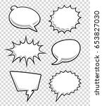 comic speech bubbles on... | Shutterstock .eps vector #653827030