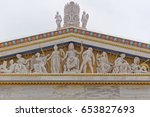 athens greece  zeus  athena and ... | Shutterstock . vector #653827693