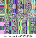 glitch psychedelic background.... | Shutterstock . vector #653829364