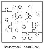puzzle  silhouette set vector... | Shutterstock .eps vector #653836264