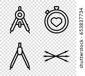 precision icons set. set of 4... | Shutterstock .eps vector #653837734
