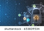 cyber security and information... | Shutterstock .eps vector #653839534