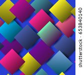 colorful squares on blue... | Shutterstock .eps vector #653840140