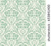 seamless floral pattern in the... | Shutterstock . vector #653841400