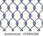 rope seamless tied fishnet... | Shutterstock . vector #653841538