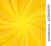 comics rays background with... | Shutterstock . vector #653843050