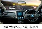 autonomous driving car and...   Shutterstock . vector #653843104