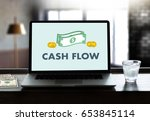 cash flow money investment and... | Shutterstock . vector #653845114