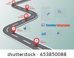 design template  road map... | Shutterstock .eps vector #653850088