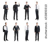 set of a young and handsome... | Shutterstock . vector #653850310