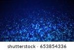 Blue Digital Binary Data Code...