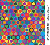 geometric seamless texture with ... | Shutterstock .eps vector #653860174