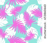 bright summer flat hand drawn... | Shutterstock .eps vector #653860660