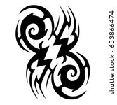 tattoo tribal vector design.... | Shutterstock .eps vector #653866474