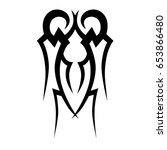 tribal tattoo art designs.... | Shutterstock .eps vector #653866480