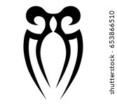 tribal tattoo art designs.... | Shutterstock .eps vector #653866510