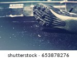 person's spike against the... | Shutterstock . vector #653878276