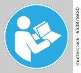 mandatory action sign  refer... | Shutterstock .eps vector #653878630