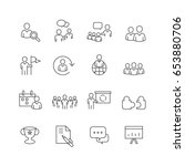 business and people icons set... | Shutterstock .eps vector #653880706