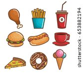 fast food design | Shutterstock .eps vector #653882194