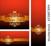 banners with golden ornaments... | Shutterstock .eps vector #653887894