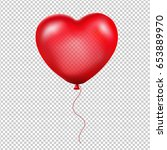 red heart balloon gradient mesh ... | Shutterstock .eps vector #653889970