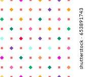 vintage 90s tiling seamless... | Shutterstock .eps vector #653891743