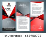 vector business trifold... | Shutterstock .eps vector #653900773
