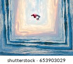 relaxation and levitation in...   Shutterstock . vector #653903029
