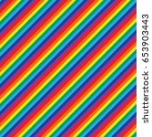vector seamless rainbow pattern.... | Shutterstock .eps vector #653903443