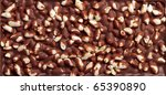 Chocolate with rice - stock photo