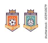 soccer club logo or badge.... | Shutterstock .eps vector #653910079