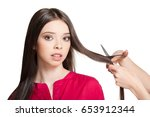 long hair decision  young... | Shutterstock . vector #653912344