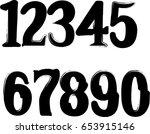 grunge numbers | Shutterstock .eps vector #653915146