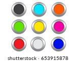 button vector set | Shutterstock .eps vector #653915878