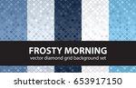 "diamond pattern set ""frosty... | Shutterstock .eps vector #653917150"