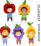 illustration of stickman kids... | Shutterstock .eps vector #653920720