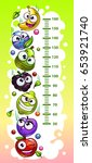 kids height chart template with ... | Shutterstock .eps vector #653921740