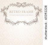 vertical vintage background for ... | Shutterstock .eps vector #65392228